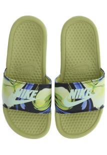 387aa90f60 ... Chinelo Nike Benassi Jdi Print - Slide - Feminino - Amarelo Esc Azul
