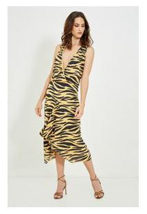 Vestido Zebra Amarelo