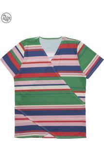 Blusa Lecimar Plus Em Malha Canelada Alto Verão G3 Verde