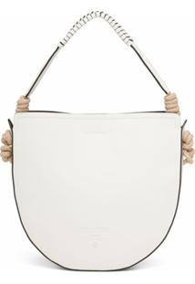 Prada Bolsa Tiracolo Com Detalhe De Cordão - Branco