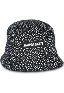 Bucket Simple Skateboard Dots Preto