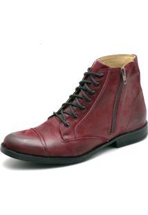 Bota Top Franca Shoes Casual Vinho
