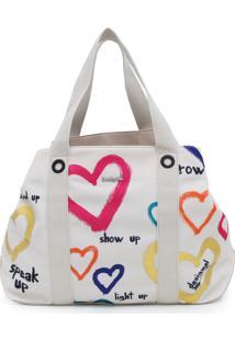 Bolsa Desigual Coração Branca