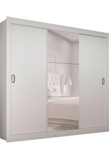 Guarda-Roupa Casal Master Com 1 Espelho 3 Pt 2 Gv Branco