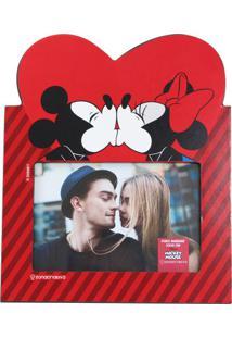 Porta Retrato Mickey E Minnie Coração - Zona Criativa