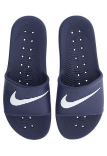 Chinelo Nike Kawa Shower - Slide - Masculino - Azul Esc/Branco