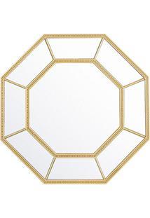 Espelho Octogonal Huit 40X40Cm Dourado
