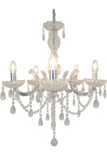 Lustre Charlize, 120X56, Cristal E Metal Transparente Única