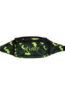 Pochete Alkary Camuflada Tradicional Verde Limão - Kanui