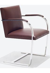 Cadeira Brno - Cromada Linho Impermeabilizado Cinza - Wk-Ast-43,