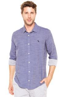 Camisa Reserva Maquinetada Wave Azul