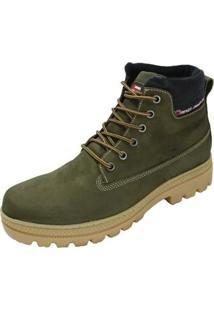 Coturno Atron Shoes Militar - Masculino-Verde Militar