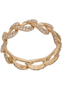 Astley Clarke Anel Vela Eternity De Ouro Amarelo 14K Com Diamante - Dourado