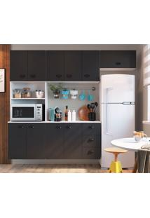 Cozinha Compacta Mia Coccina 10 Pt 3 Gv Preta