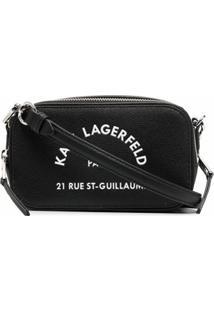 Karl Lagerfeld Bolsa Estruturada Rue St Guillaume - Preto