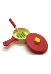 Frigideira Com Espátula - Newart - Brinquedo Educativo