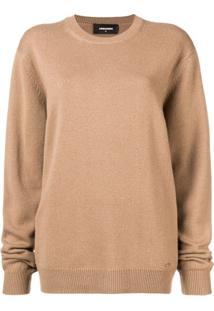 Dsquared2 Suéter Oversized - Marrom