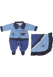 Enxoval Infantil Para Bebê Menino - Azul - Masculino