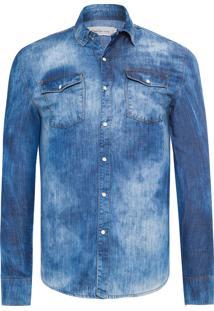 Camisa Masculina Jeans – Azul