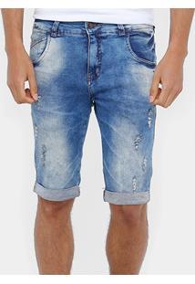 Bermuda Jeans Skinny Rock & Soda Stone Masculina - Masculino