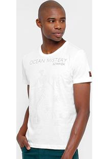 Camiseta Sommer Skull Bordado Masculina - Masculino