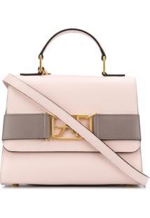 Alberta Ferretti Logo Buckle Crossbody Bag - Rosa