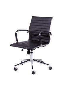 Cadeira Office Eames Esteirinha Baixa Giratória Preto Or Design