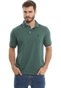 Camisa Polo Head Play Piquet Básica Masculina - Masculino-Verde Militar