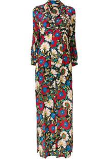 Anjuna Vestido Longo Com Estampa Floral - Preto