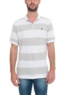 Camisa Polo Manga Curta Big Stripe