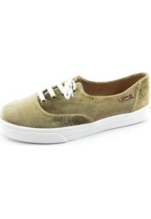 Tênis Quality Shoes Feminino 005 Veludo Bege 35