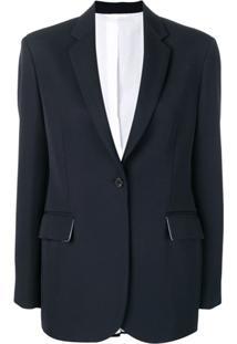 Calvin Klein 205W39Nyc Blazer Com Abotoamento Simples - Azul