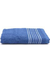 Toalha De Banho Santista Prata Apolo Azul