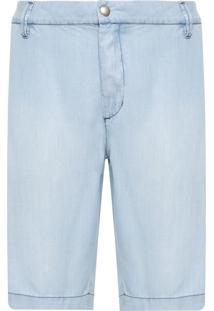 Bermuda Masculina Jeans Bolsos Embutidos - Azul