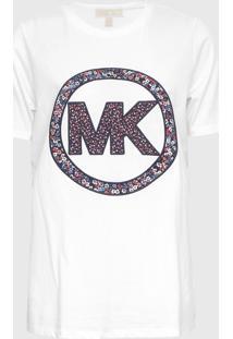 Camiseta Michael Kors Elv Crclogo Smrcmp Branco