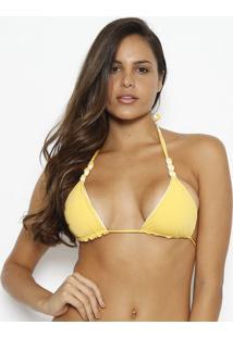 Soutien Cortininha Liso- Amarelo & Branco- Vixvix