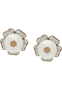 Dolce & Gabbana Faux-Pearl Detailed Earrings - Branco