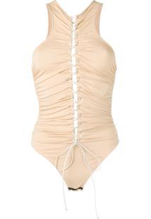 Unravel Project Tie Front Body - Neutro
