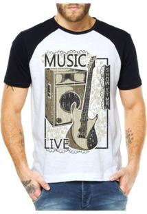 Camiseta Criativa Urbana Raglan Hora Do Show - Masculino