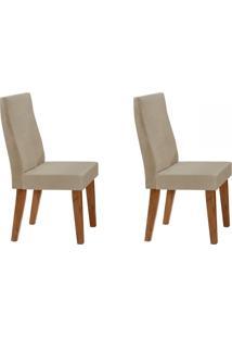 Cadeiras Kit 2 Cadeiras Cannes Canela/Rústico/Bege - Art Panta