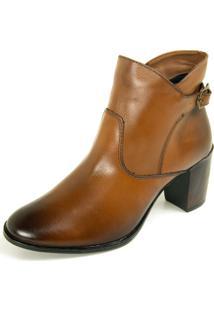 Bota Ankle Boot Dhatz Não Possui Cadarço Whisky