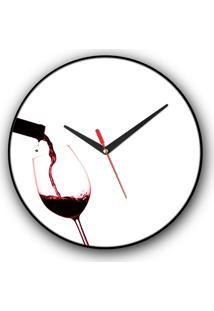 Relógio De Parede Colours Creative Photo Decor Vinho Splash