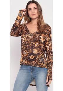 Blusa Arabescos - Marrom & Laranja- My Favorite Thinmy Favorite Things