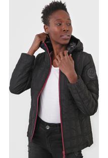 Jaqueta Desigual Capuz Preta