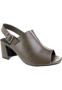 Sandália Ramarim Open Boot Leaf Feminina - Feminino-Incolor+Verde