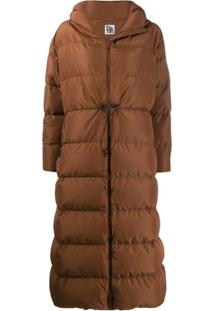 Bacon Hooded Padded Coat - Marrom