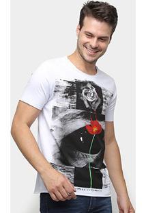 Camiseta Derek Ho Rose Eye Masculina - Masculino-Branco