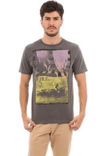 Camiseta Aes 1975 Surf Masculina - Masculino-Preto