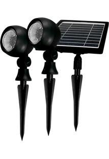 Refletor De Jardim Taschibra Led 3000K Painel Solar Bivolt Preto