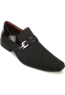 Sapato Promais Fivela - Masculino-Preto